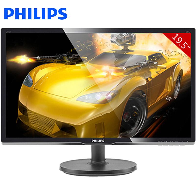 飞利浦(PHILIPS) 206V6QSB6 19.5万博手机版客户端下载LED背光宽屏 IPS液晶显示器 黑色