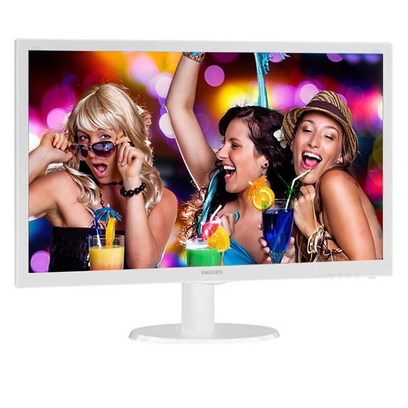 飞利浦 243V5QSB  23.6万博手机版客户端下载高清电脑液晶显示器细窄边框LED宽屏广视角商务办公游戏可壁挂显示器 白色