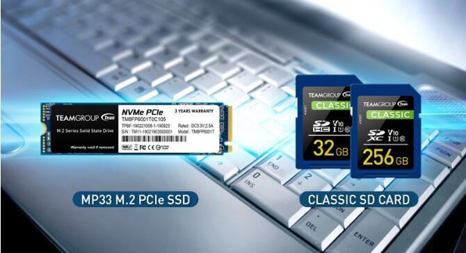 十铨科技推出MP33 M.2 PCIe 固态硬盘及Full-HD录制拍摄专用Classic SD 记忆卡