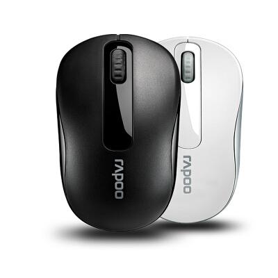 雷柏(Rapoo) M10无线鼠标 游戏商务家用办公电脑笔记本台式机2.4G 可爱无光省电男女生通用 黑色/白色