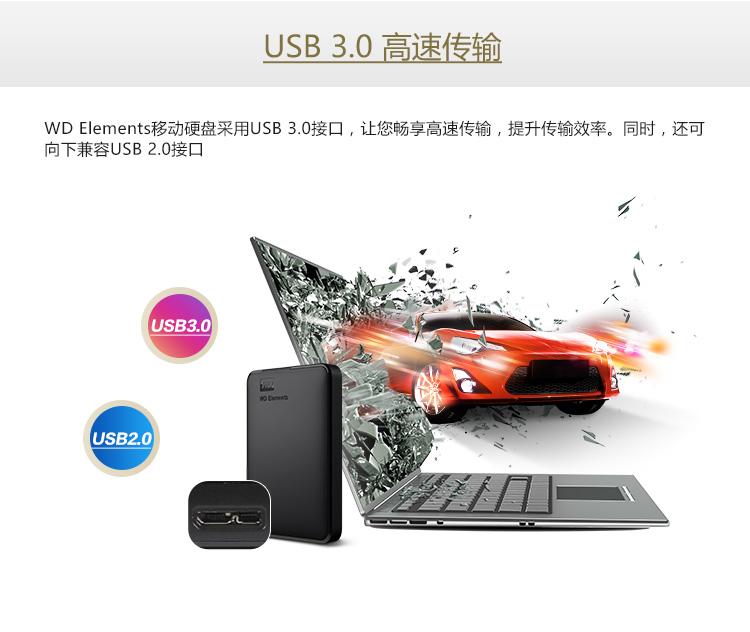 西部数据(WD)2TB USB3.0移动万博体育手机版登陆Elements 新元素系列2.5万博手机版客户端下载(稳定耐用 海量存储)