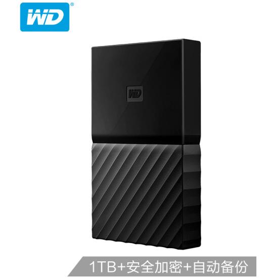 西部数据(WD)1TB USB3.0移动硬盘My Passport 2.5竞博app下载链接 经典黑(硬件加密 自动备份)WDBYNN0010BBK