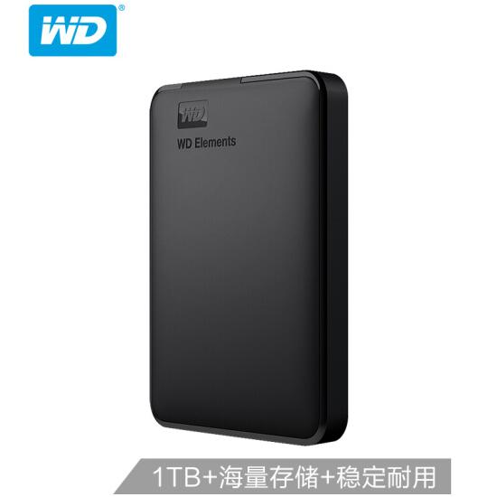 西部数据(WD)1TB USB3.0移动万博体育手机版登陆Elements 新元素系列2.5万博手机版客户端下载(稳定耐用 海量存储)