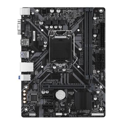 技嘉H310M-S2 2.0主板 LGA1151支持第8代和第9代处理器 GIGABYTE