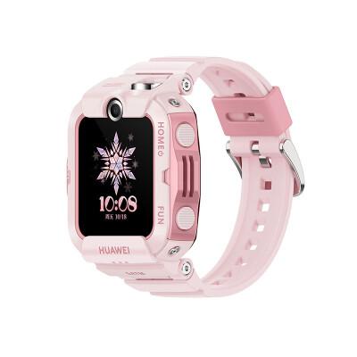 华为手表智能手表 儿童电话手表 4X 樱语粉( 高清双摄像头 4G全网通 11重定位 50米防水 学生儿童男孩女孩