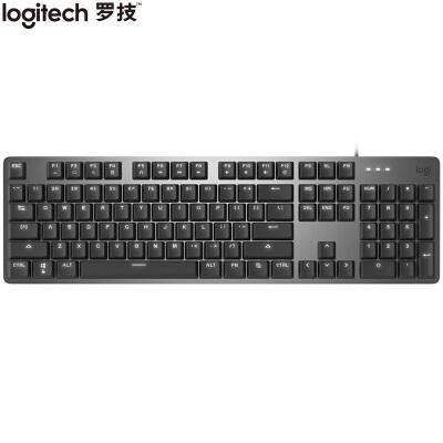 罗技(Logitech)K845 机械键盘 有线键盘 游戏办公键盘 全尺寸 单光 黑色 TTC轴 茶轴 红轴