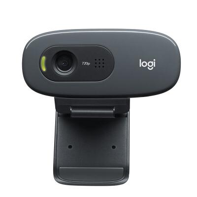 罗技(Logitech) C270 高清USB网络摄像头 网络课程远程教育 麦克风台式机电脑摄像头 C270