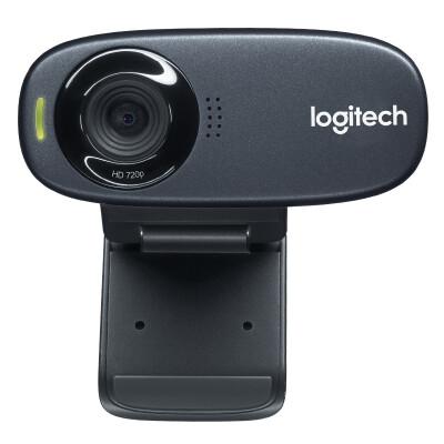 罗技(Logitech) C310高清网络摄像头USB笔记本台式电脑台式机主播直播视频通话麦克风电视 灰色