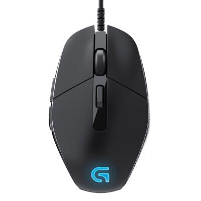 罗技(G)G302 电竞游戏鼠标 4000DPI 绝地求生鼠标 apex英雄cf吃鸡lol 黑色