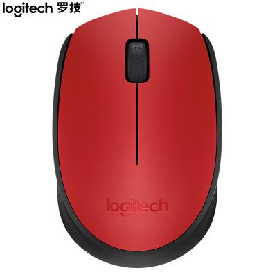罗技(Logitech)M170 鼠标 无线鼠标 办公鼠标 对称鼠标 灰色 带无线2.4G接收器