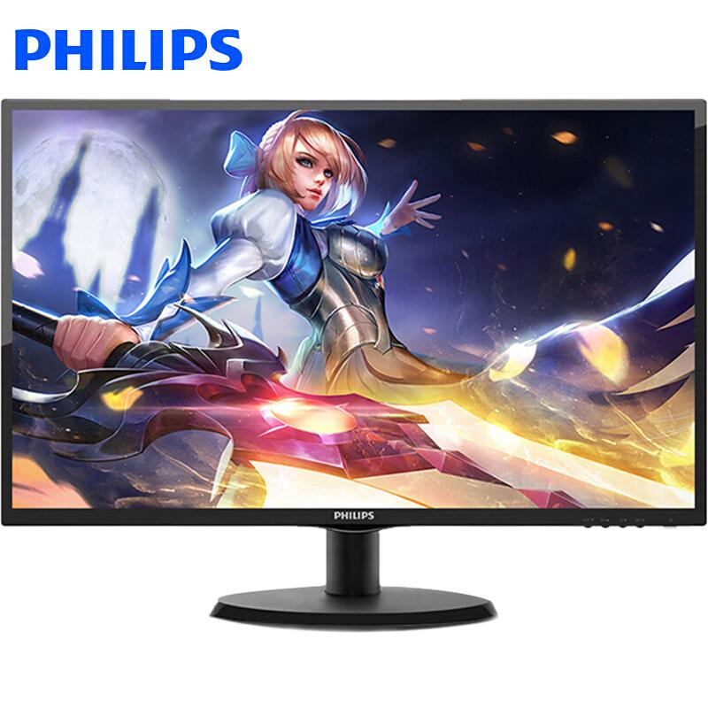 飞利浦(PHILIPS)223V5LSB2 21.5万博手机版客户端下载办公电脑液晶商务家用显示屏幕 黑色