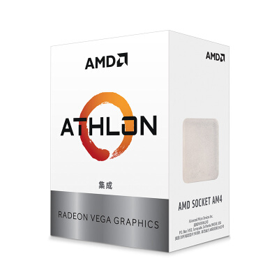 AMD 速龙 3000G 处理器 2核4线程 搭载Radeon Vega Graphic 3.5GHz AM4接口 盒装CPU