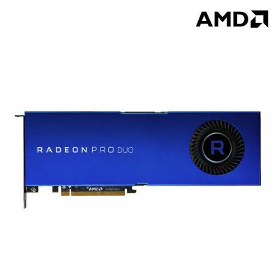 AMD Radeon Pro Duo 32G 设计师平面设计绘图3D建模影视后期剪辑特效专业图形显卡 Pro DUO DP*3+HDMI*1