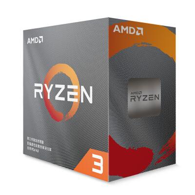 AMD 锐龙3 3100 处理器 (r3)7nm 4核8线程 3.6GHz 65W AM4接口 盒装CPU