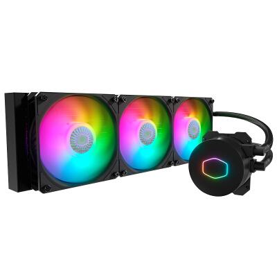 酷冷至尊( CoolerMaster )冰神B360 ARGB水冷散热器(I9 2066、AM4/ARGB灯珠/双腔水泵/低阻冷排)