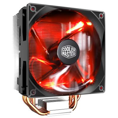 酷冷至尊 暴雪T400i CPU散热器 风冷/台式电脑.主机风扇(4热管/ PWM温控/有硅脂) T400i/红光/i5 i7 i9 INTEL平台