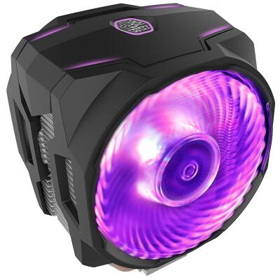 酷冷至尊(Cooler Master)暴雪T610P CPU风冷散热器(支持I9 2066、AM4/6热管/12CM双风扇/同步4大板商RGB灯效)