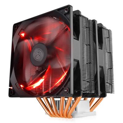 酷冷至尊 暴雪T620 CPU散热器/台式机电脑风扇,风冷(多平台/双塔6热管/12CM红光双风扇)