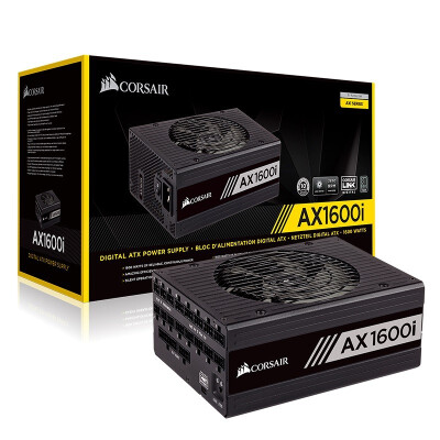 美商海盗船(USCORSAIR)AX系列1600W 白金钛金牌 台式电脑主机电源 AX1600i 钛金牌 额定1600W