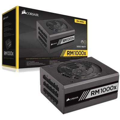 美商海盗船HX1000海盗船额定1000W台式机电脑静音电源白金牌全模组