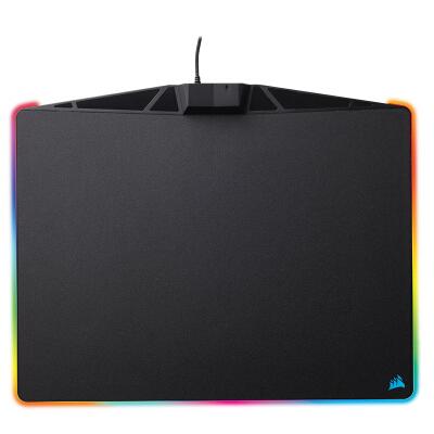 美商海盗船 (USCORSAIR) MM800 游戏鼠标垫 RGB幻彩背光 黑色
