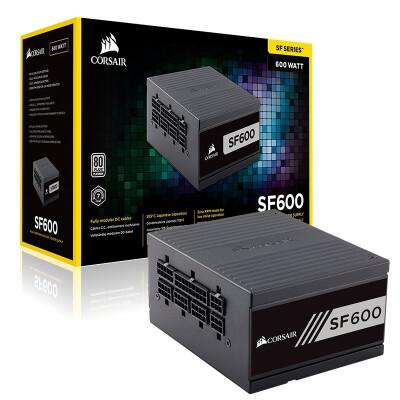 美商海盗船(USCORSAIR)SF600 SFX全模组台式机主机电脑小电源 SF600 白金 额定600W