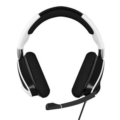 美商海盗船 (USCORSAIR) 天行者VOID RGB ELITE USB 白色/黑色 游戏新万博bet 头戴式新万博bet 有线连接 炫彩背光 多平台支持