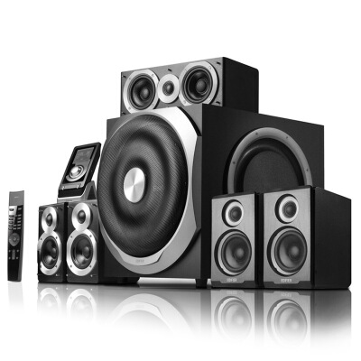 漫步者(EDIFIER) S5.1 MKII 全数字解码5.1音箱系统 音响 电脑音箱 电视音响 黑色