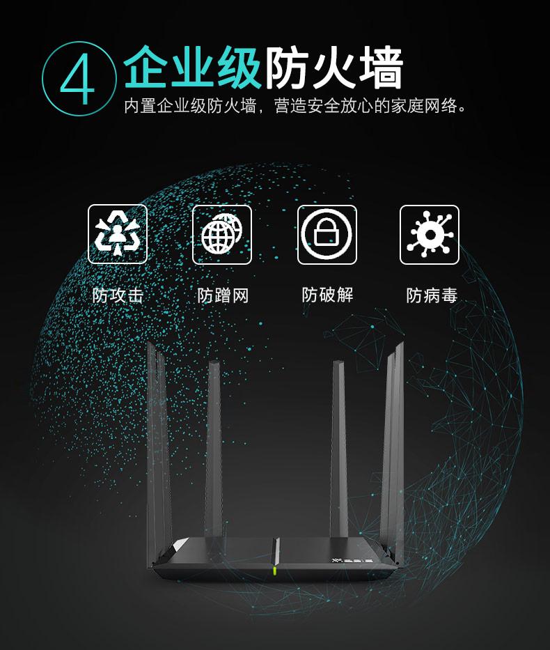 华三H3C R300G 路由器无线5G智能双频全千兆大户型穿墙王主机游戏加速高速路由 1200M