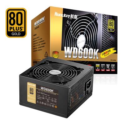 航嘉(Huntkey)金牌600W WD600K电脑电源(80PLUS金牌/单路45A/全电压/LLC+SR+DC-DC/智能温控/apex英雄)