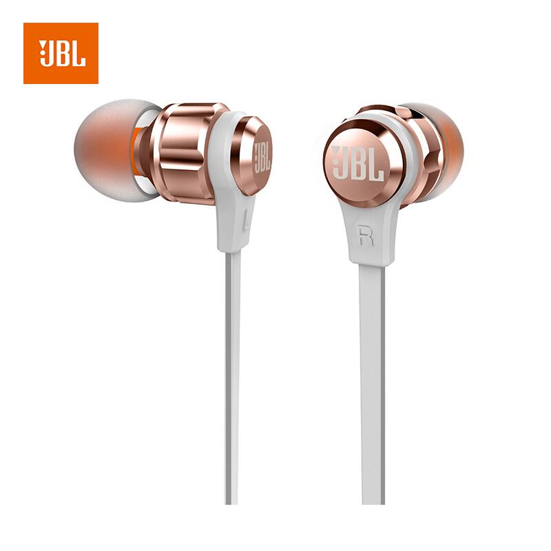 JBL T180A 立体声入耳式新万博bet 耳麦 运动新万博bet 带麦可通话 游戏新万博bet
