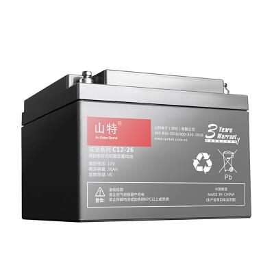 山特(SANTAK)C12-26 山特UPS电源电池免维护铅酸蓄电池 12V26AH