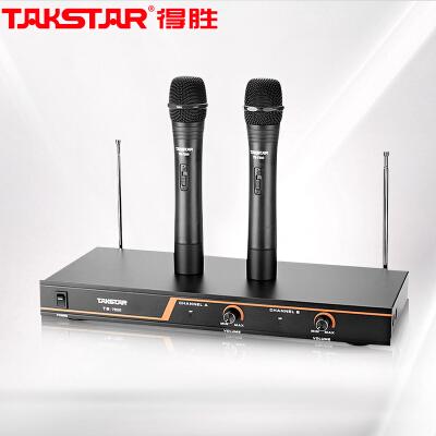 得胜(TAKSTAR)TS-7200无线麦克风 一拖二无线话筒 专业演出会议主持家用话筒 K歌舞台手持式麦克风防啸叫