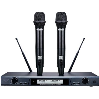 得胜(TAKSTAR) X5 U段无线话筒一拖二充电麦克风家用K歌演出会议主持麦克风 黑色/银色