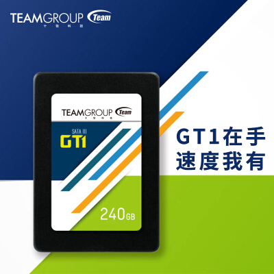 抢购不包邮 十铨 (Team) GT1 240GB SATA3 台式机笔记本固态硬盘SSD