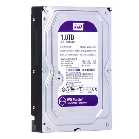 西部数据(WD)紫盘 1TB SATA6Gb/s 64M 监控万博体育手机版登陆(WD10EJRX)