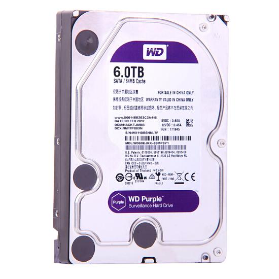 西部数据(WD)紫盘 6TB SATA6Gb/s 64M 监控万博体育手机版登陆(WD60EJRX)