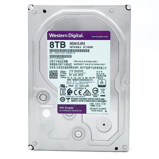 西部数据(WD)紫盘 8TB SATA6Gb/s 256M 监控万博体育手机版登陆(WD81EJRX)
