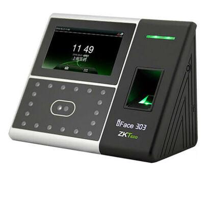ZKTeco iface303面部考勤机指纹打卡机人脸识别考勤机科技产品指纹人脸一体机 标配