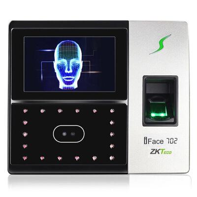 ZKTeco iFace702 人脸指纹考勤机 高速识别打卡机 触屏操控门禁一体机
