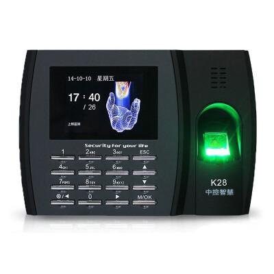 ZKTeco  K28指纹考勤机 指纹识别上班签到 打卡机免软件签到机 标配