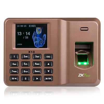 中控智慧(ZKTeco) X10指纹打卡机 免软件指纹考勤机 U盘下载自动生成报表